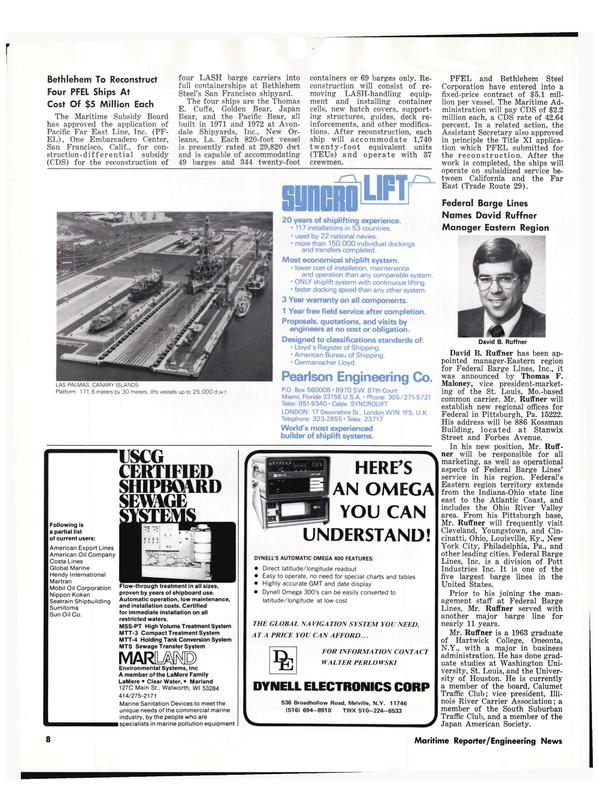 Maritime Reporter Magazine, page 6,  Jun 15, 1977