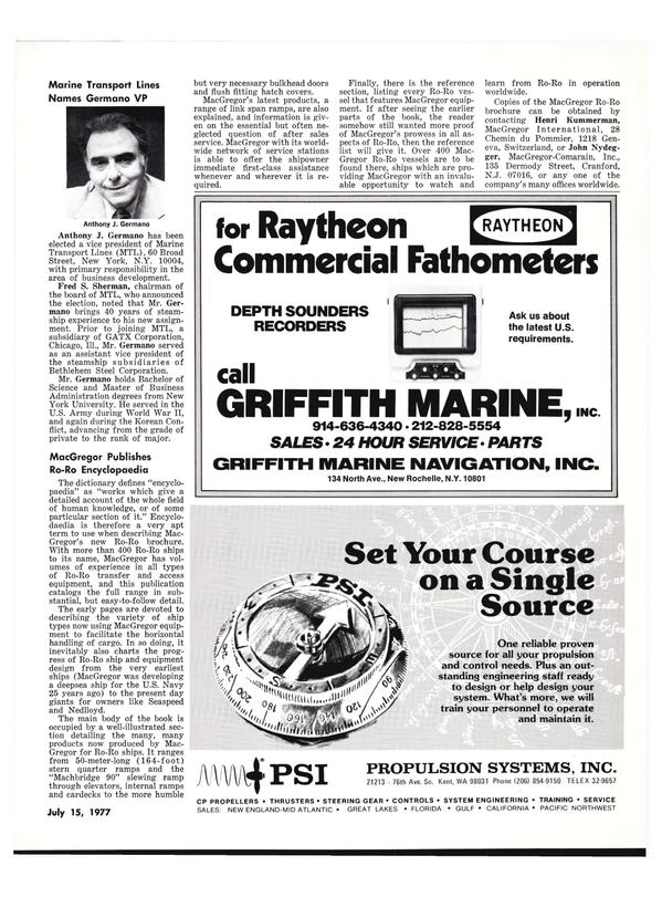Maritime Reporter Magazine, page 23,  Jul 15, 1977