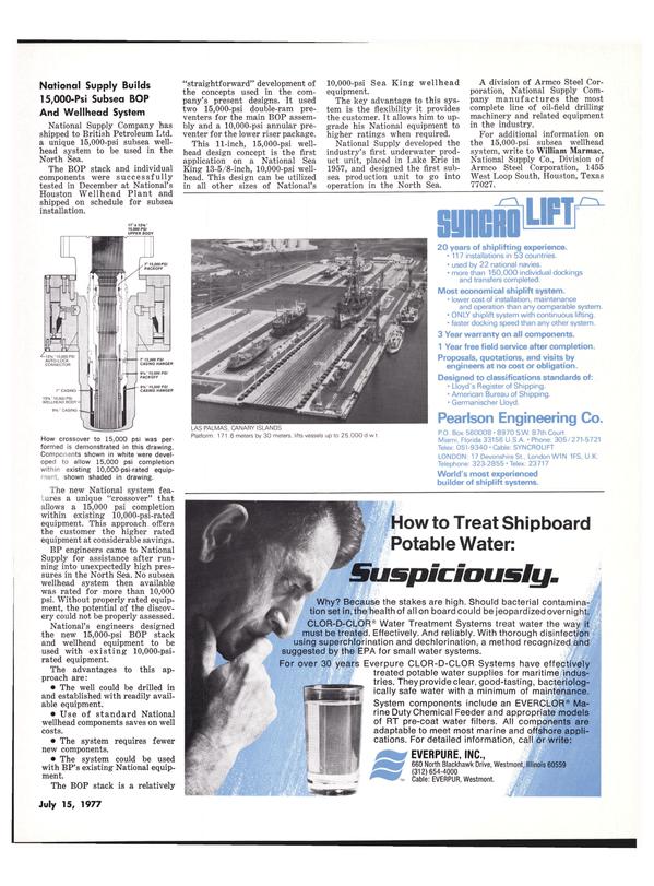 Maritime Reporter Magazine, page 7,  Jul 15, 1977