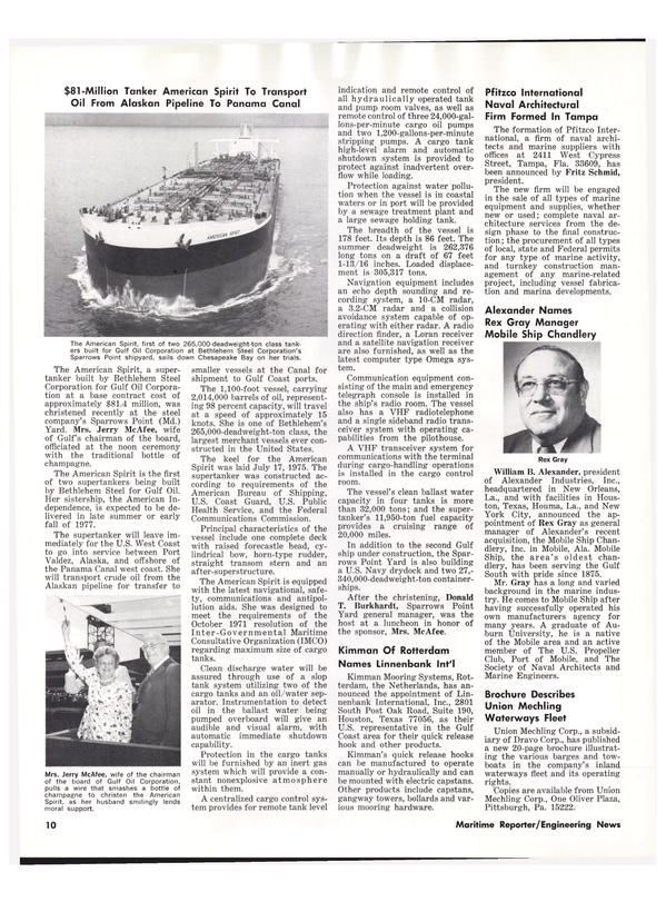 Maritime Reporter Magazine, page 8,  Aug 1977