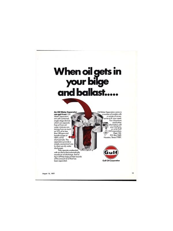 Maritime Reporter Magazine, page 13,  Aug 1977