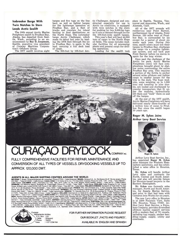Maritime Reporter Magazine, page 18,  Aug 1977