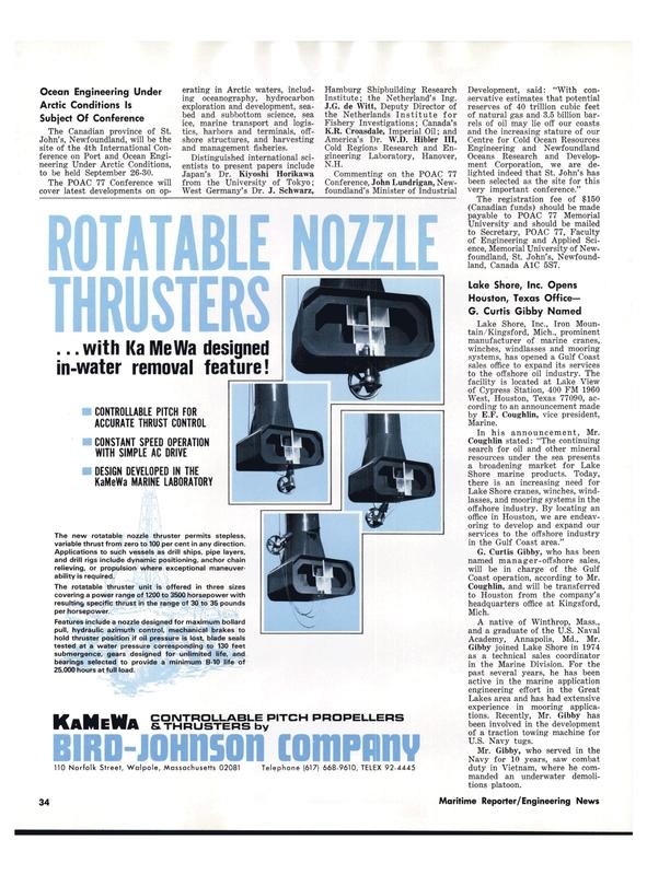 Maritime Reporter Magazine, page 32,  Aug 1977