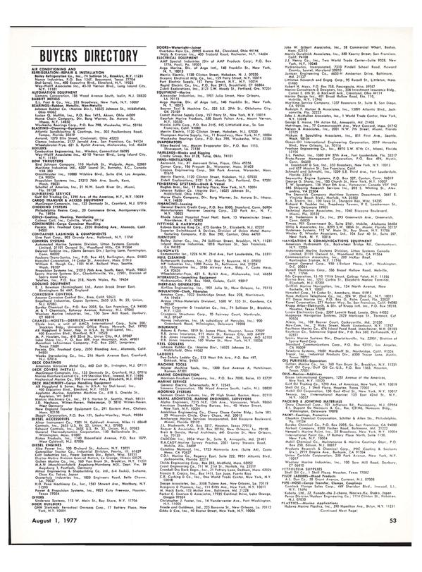 Maritime Reporter Magazine, page 43,  Aug 1977