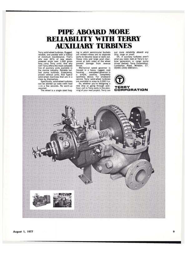 Maritime Reporter Magazine, page 7,  Aug 1977