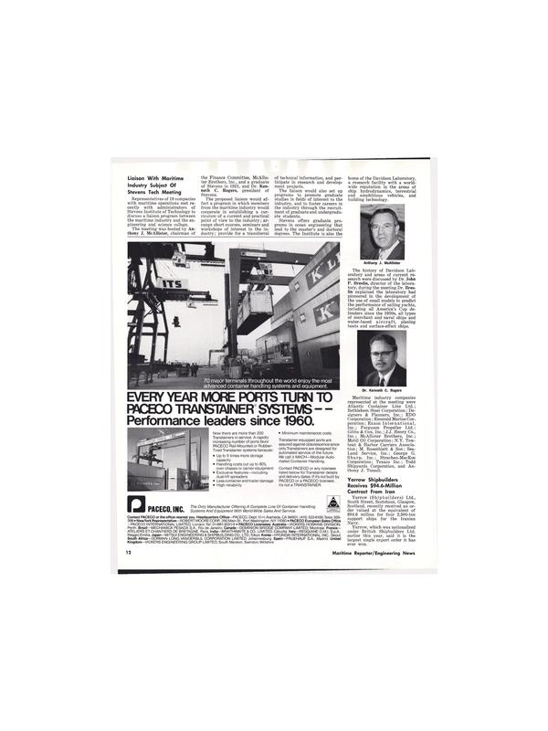 Maritime Reporter Magazine, page 12,  Aug 15, 1977