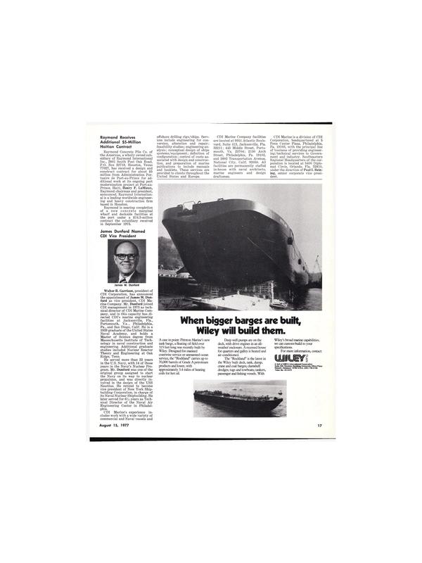 Maritime Reporter Magazine, page 17,  Aug 15, 1977