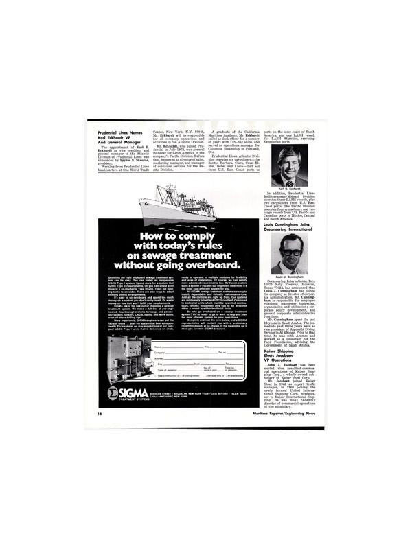 Maritime Reporter Magazine, page 18,  Aug 15, 1977