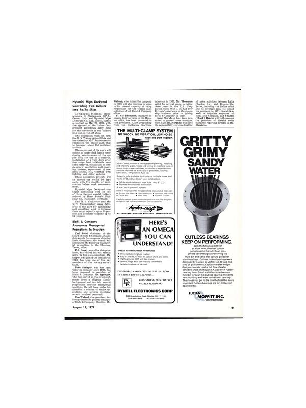 Maritime Reporter Magazine, page 21,  Aug 15, 1977
