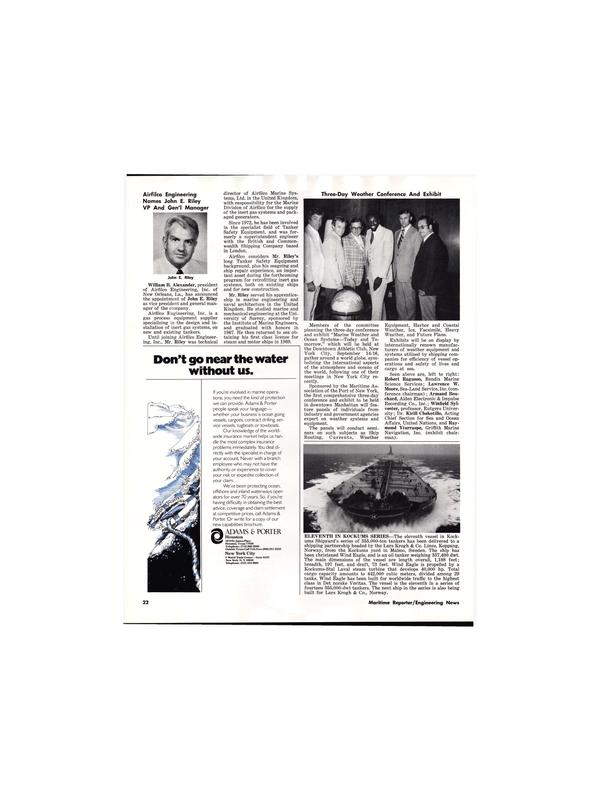 Maritime Reporter Magazine, page 22,  Aug 15, 1977