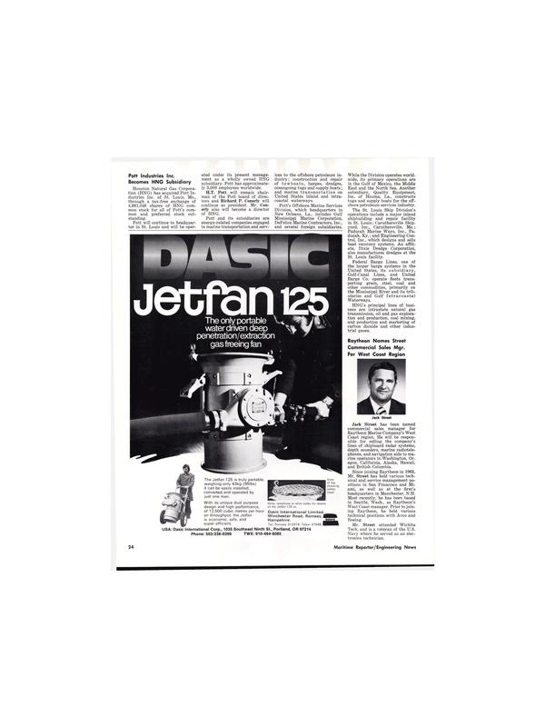 Maritime Reporter Magazine, page 24,  Aug 15, 1977