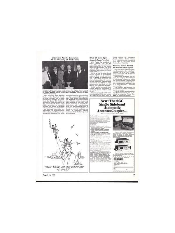 Maritime Reporter Magazine, page 29,  Aug 15, 1977