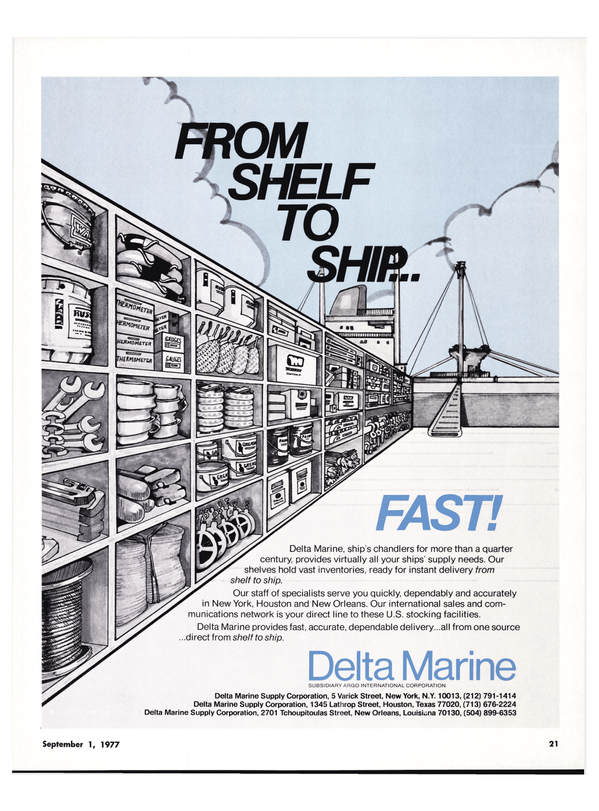 Maritime Reporter Magazine, page 19,  Sep 1977