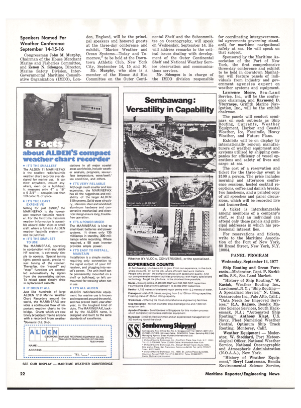 Maritime Reporter Magazine, page 20,  Sep 1977