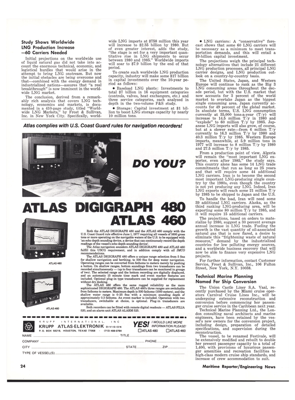 Maritime Reporter Magazine, page 22,  Sep 1977