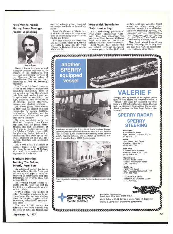Maritime Reporter Magazine, page 39,  Sep 1977