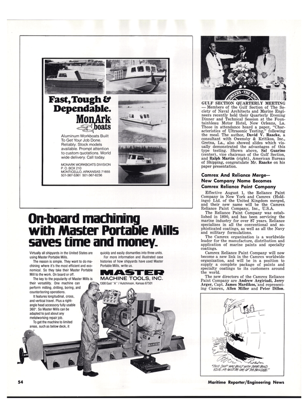 Maritime Reporter Magazine, page 48,  Sep 1977