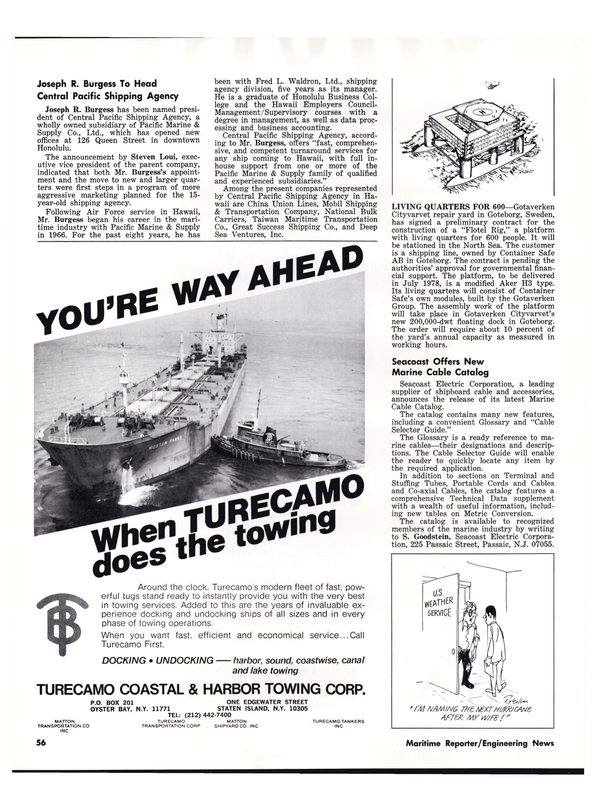 Maritime Reporter Magazine, page 50,  Sep 1977