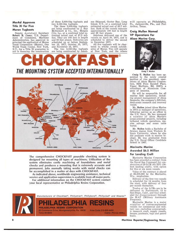 Maritime Reporter Magazine, page 6,  Sep 1977