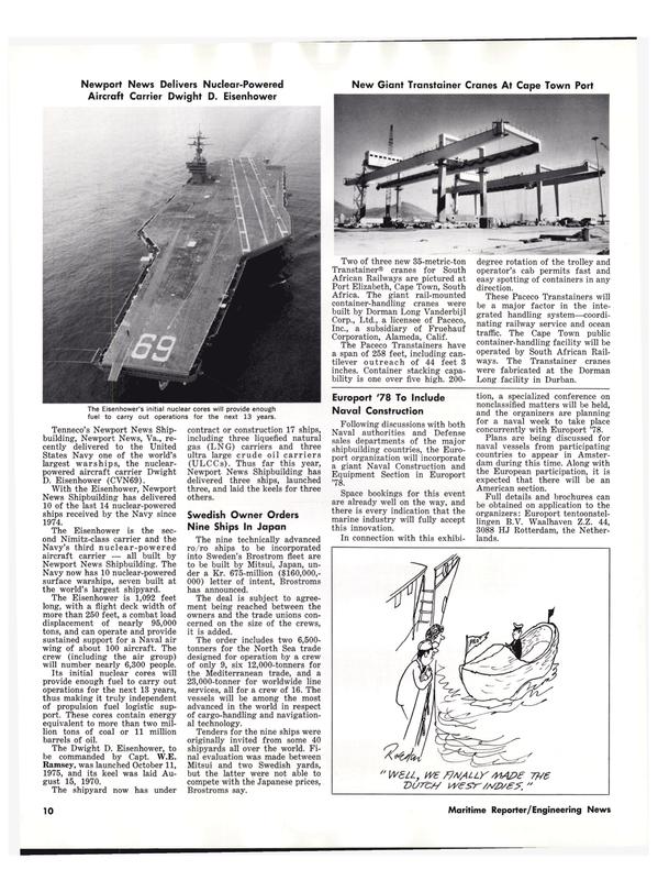 Maritime Reporter Magazine, page 12,  Oct 1977