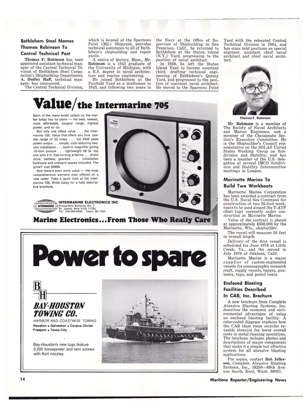Maritime Reporter Magazine, page 16,  Oct 1977