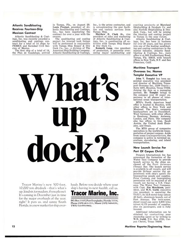 Maritime Reporter Magazine, page 10,  Oct 15, 1977