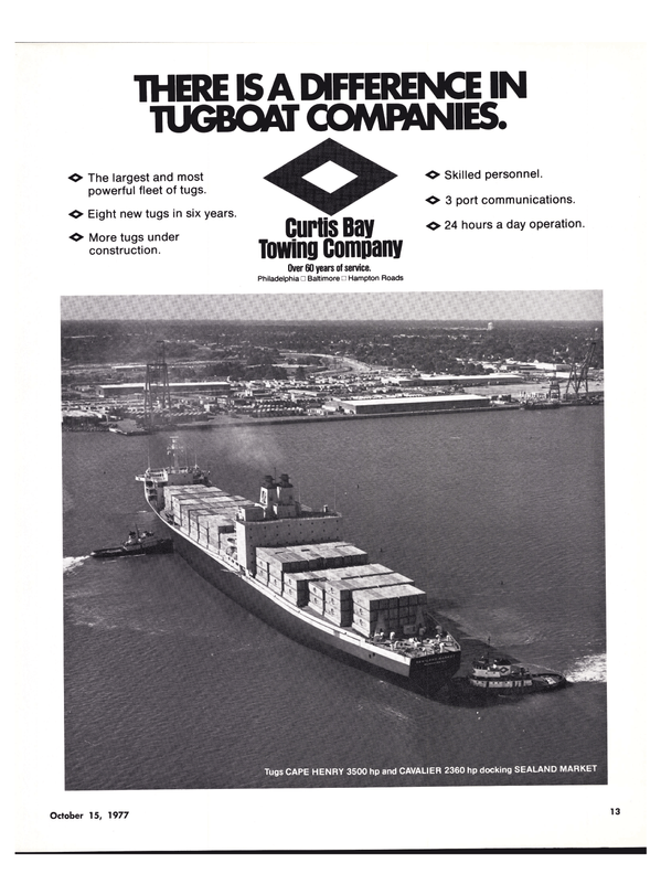 Maritime Reporter Magazine, page 11,  Oct 15, 1977