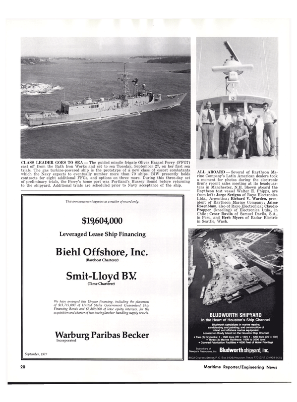 Maritime Reporter Magazine, page 18,  Oct 15, 1977