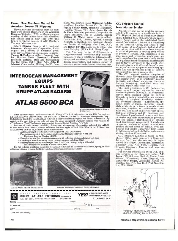 Maritime Reporter Magazine, page 44,  Oct 15, 1977