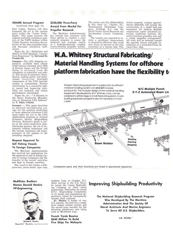 Maritime Reporter Magazine, page 10,  Nov 1977