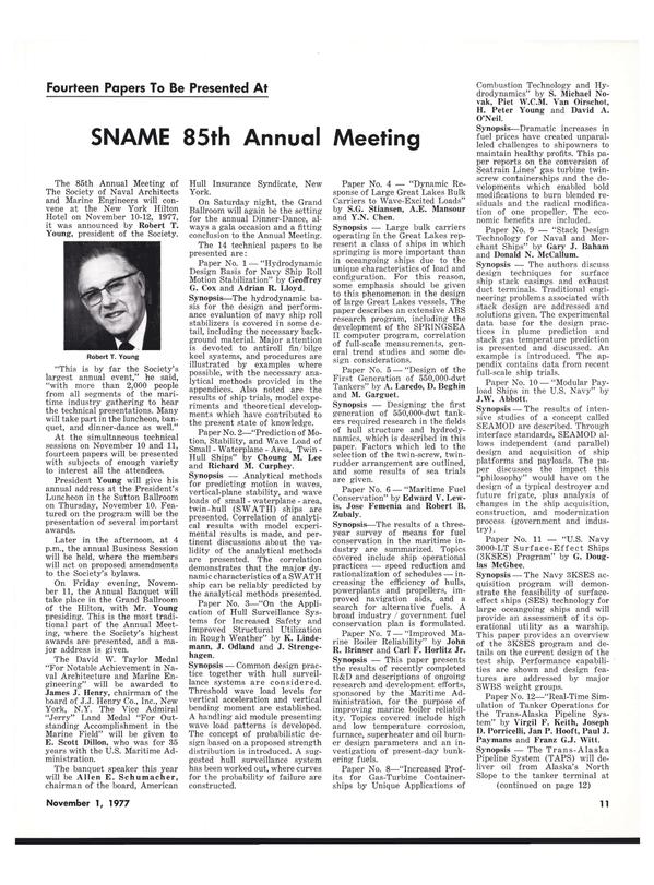 Maritime Reporter Magazine, page 11,  Nov 1977