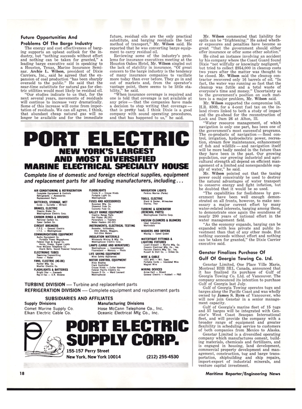 Maritime Reporter Magazine, page 18,  Nov 1977