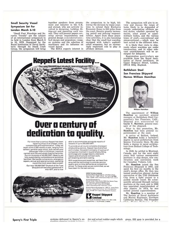 Maritime Reporter Magazine, page 24,  Nov 1977
