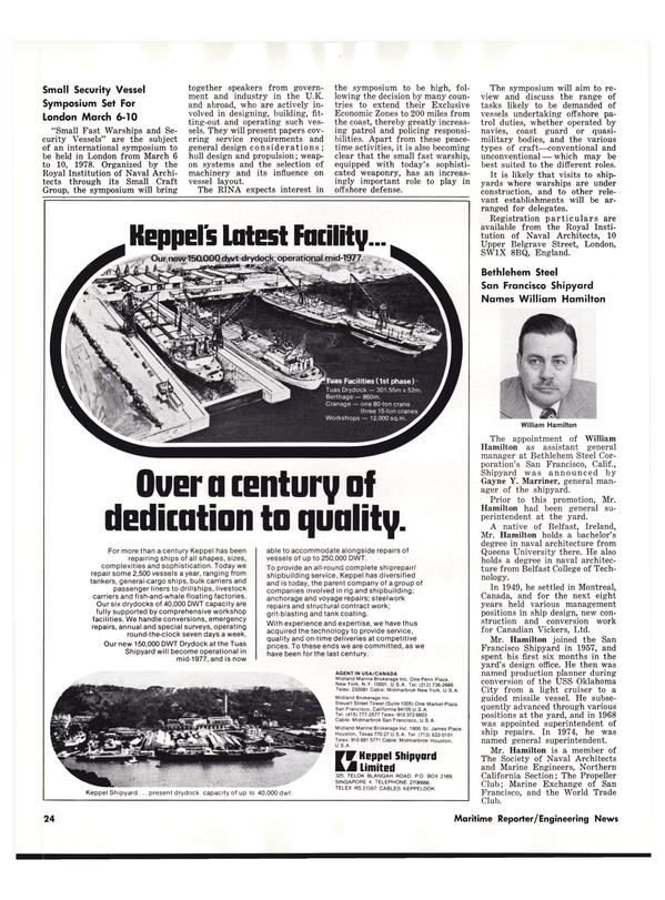Maritime Reporter Magazine, page 26,  Nov 1977