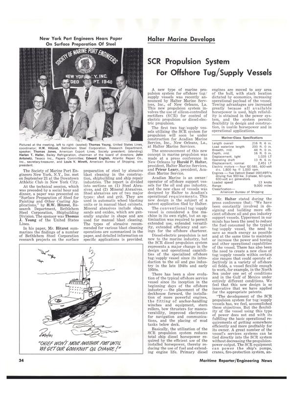 Maritime Reporter Magazine, page 34,  Nov 1977