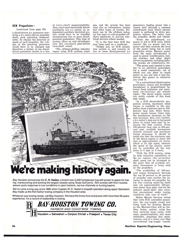 Maritime Reporter Magazine, page 36,  Nov 1977