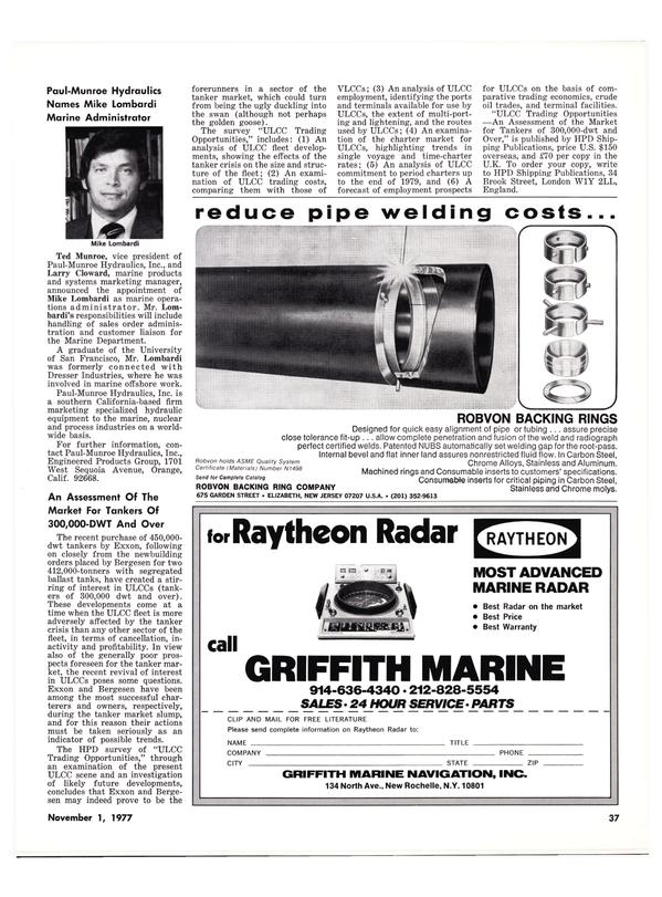 Maritime Reporter Magazine, page 37,  Nov 1977
