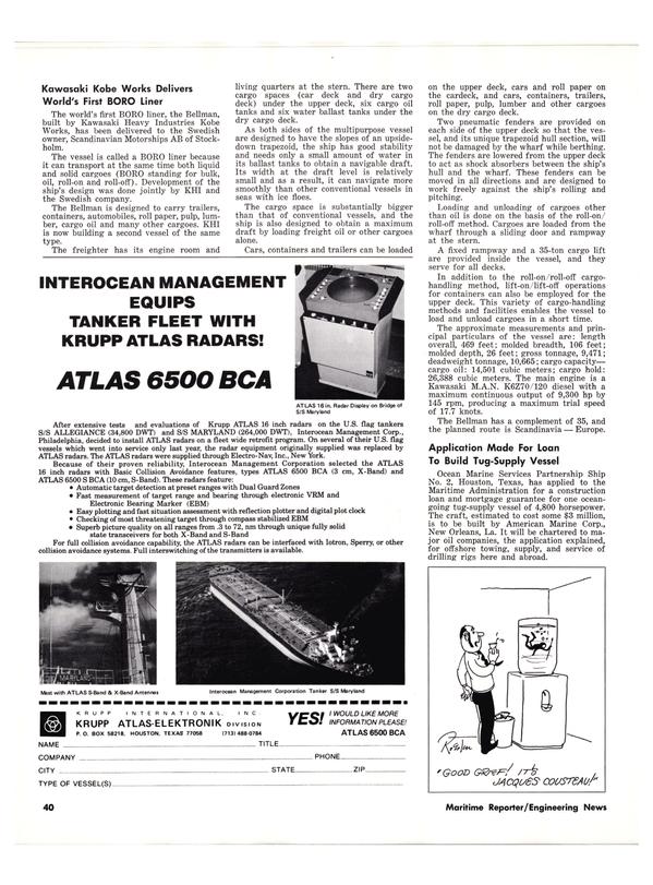 Maritime Reporter Magazine, page 38,  Nov 1977