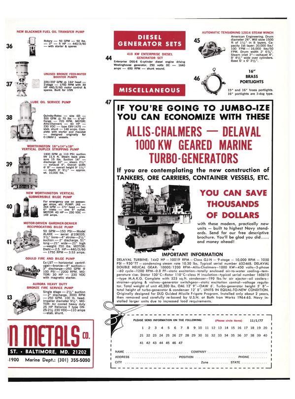 Maritime Reporter Magazine, page 41,  Nov 1977
