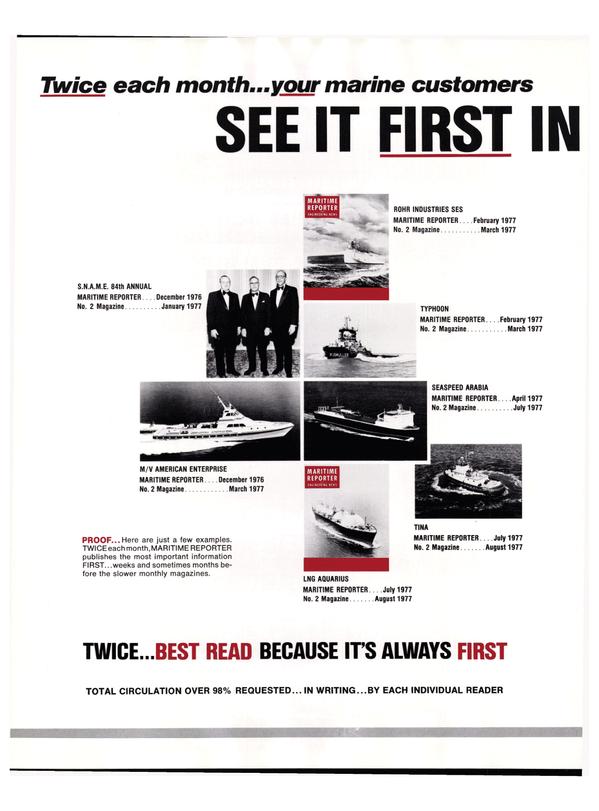 Maritime Reporter Magazine, page 42,  Nov 1977