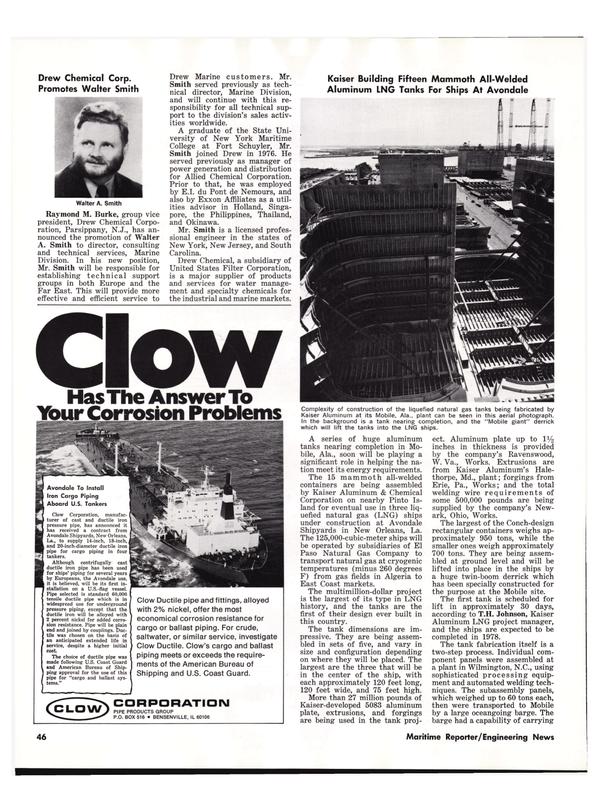 Maritime Reporter Magazine, page 46,  Nov 1977