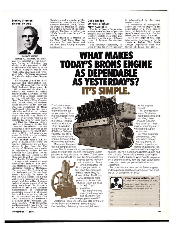 Maritime Reporter Magazine, page 49,  Nov 1977