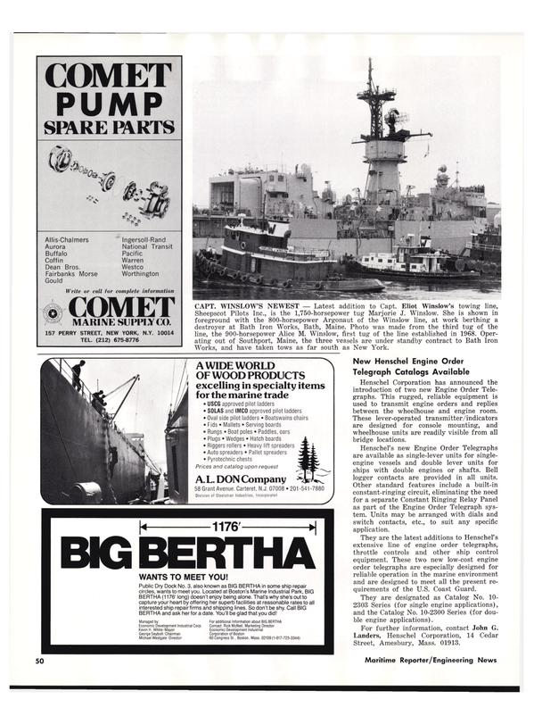 Maritime Reporter Magazine, page 50,  Nov 1977