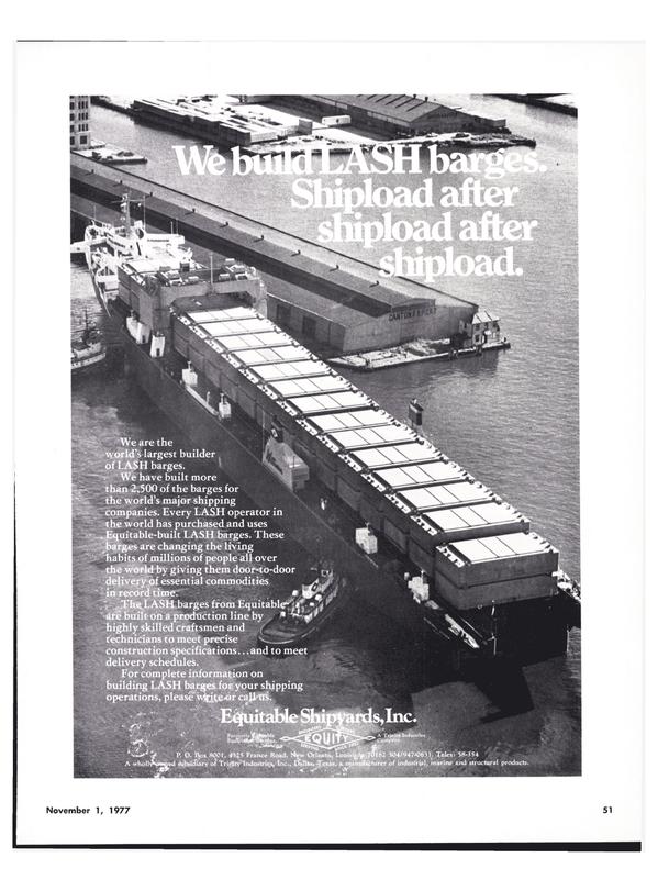 Maritime Reporter Magazine, page 53,  Nov 1977