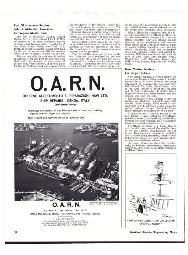 Maritime Reporter Magazine, page 56,  Nov 1977