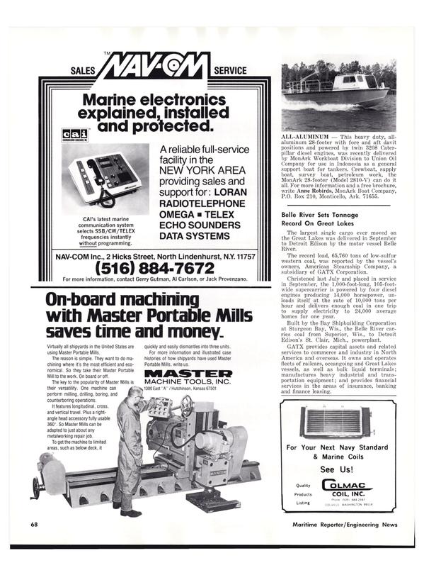 Maritime Reporter Magazine, page 66,  Nov 1977