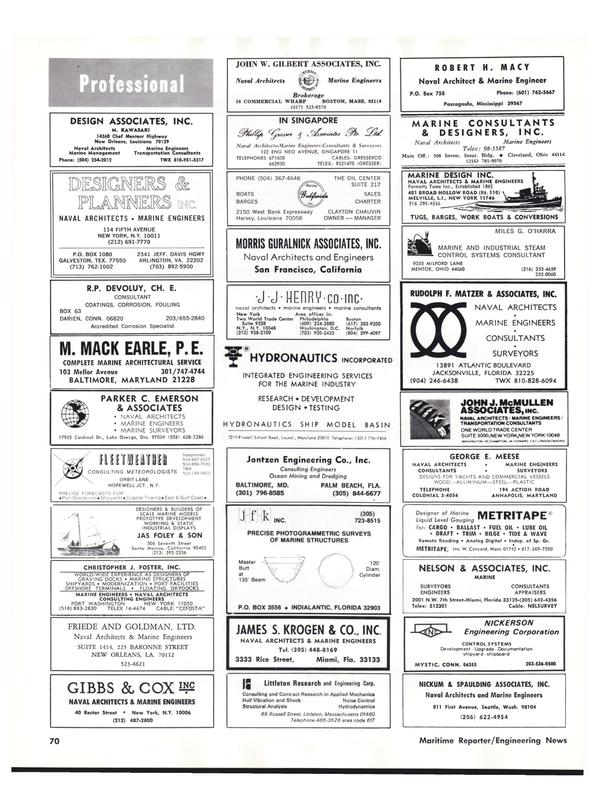 Maritime Reporter Magazine, page 68,  Nov 1977