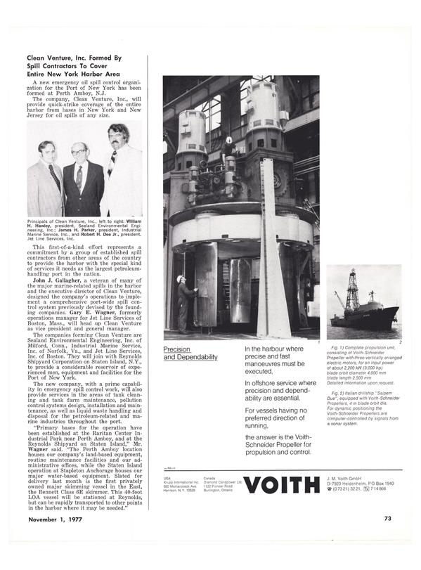 Maritime Reporter Magazine, page 73,  Nov 1977