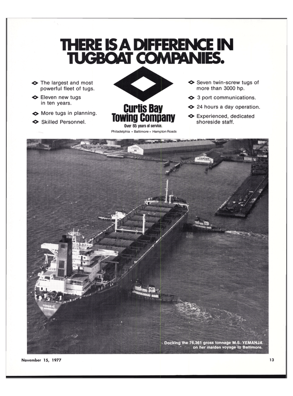 Maritime Reporter Magazine, page 11,  Nov 15, 1977