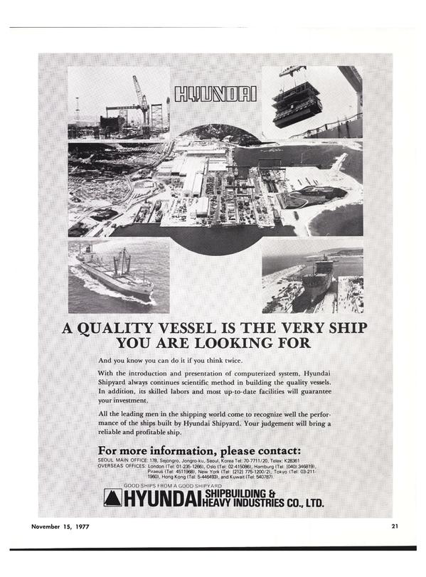 Maritime Reporter Magazine, page 19,  Nov 15, 1977